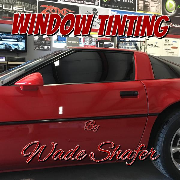 Get affordable and reliable window tinting services with Wade's Window Tinting offered by Backroad Customs.]